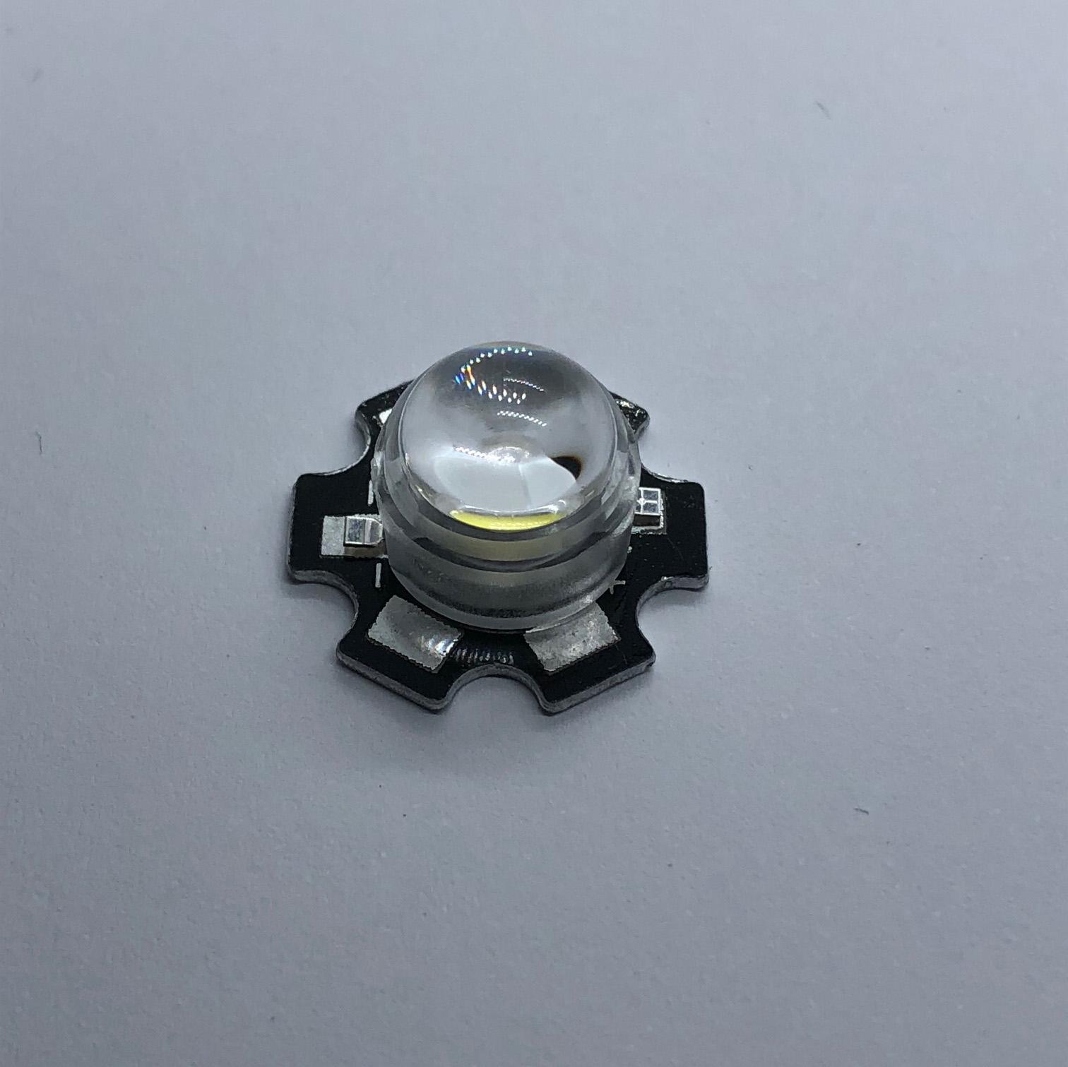 für 20mm Sternplatine 3x LED Linse 60 Grad mit Halter